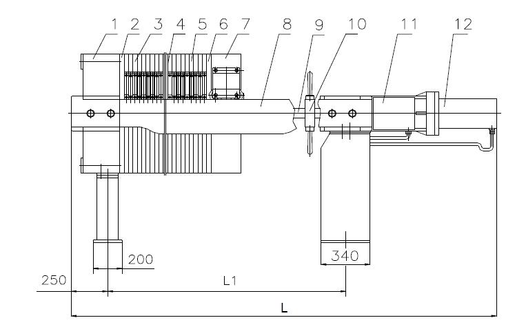 板框压滤机的特点是液压泵站,电机和电器控制箱分别装在油缸座和油箱